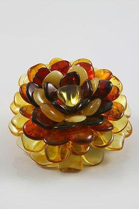"""Lima""Genuine Baltic Amber Flower Pendant"