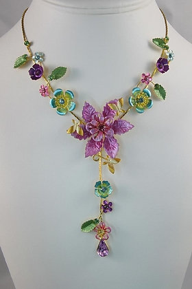 """""""Nadiana""""  Hand-Painted Czech Crystal Necklace"""