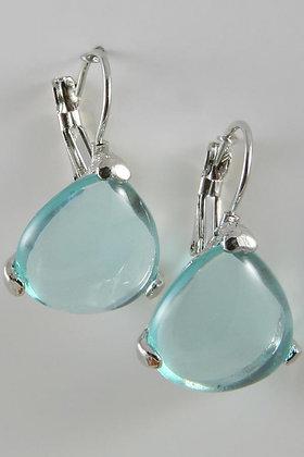 """Mainina"" Acryl Blue Water Earrings"