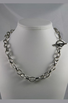 """Shaila"" Silver Tone 20""L Necklace"