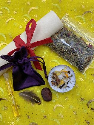 BANISHING Old Witch Secret Gris-Gris Bag