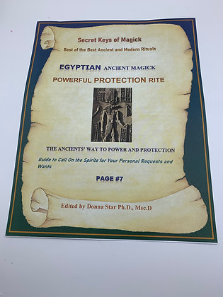 PROTECTION EGYPTIAN MAGICK RITE from Book of Shadow Page Power of the Spirits