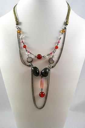 """Franca"" Multi Strend Bead 24""L Necklace"