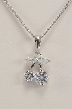 """""""Chary"""" Rhodium Plated Delicate Pendant"""