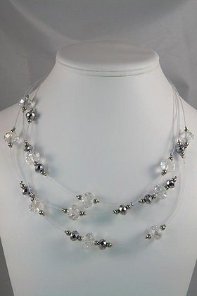 """""""Fiona"""" Mirror Glass Link Illusion Necklace"""
