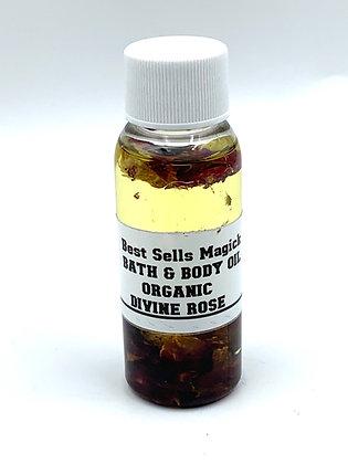 DIVINE ROSE Organic Herbal Bath & Body Oil