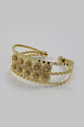 """Daltona""Egyptian Gold Bonded Diamond Bangle"