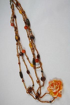 """""""Joella"""" Multi Strend Bead & Flower Necklace"""