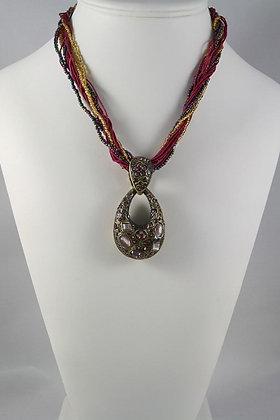 """Elizana"" Crystal & Natural Stone Necklace"