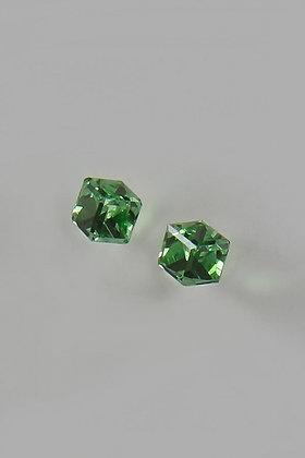 """Alidona""Green Swarovski Crystal Cubed Stud Earrin"