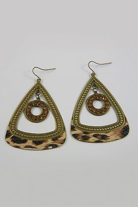 """Lashia"" Crystal Animal Print Deco Hoop Earrings"