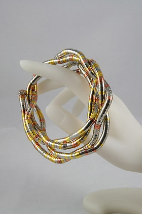 """Darya"" Gold/Silver Toned Free Wrap Necklace"