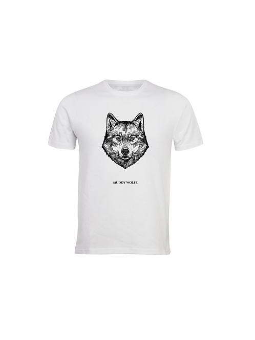 Unisex Muddy Wolfe T-shirt Ice Grey(off white)