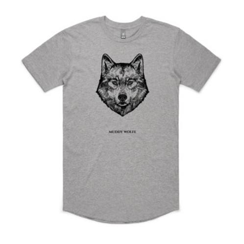 Unisex Muddy Wolfe T-shirt Sports Grey