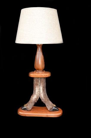 BLACK WILDEBEEST FEET LAMP.JPG