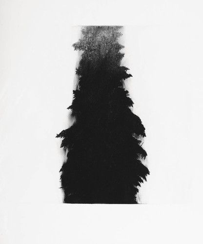 STRÁŽCE LESA / čárový lept 50x50cm / 2013       Guardian of the forest / etching 50x50cm / 2013