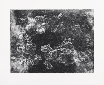 DOTEK TICHA / lept 40x30cm / 2016       Touch of silence / intaglio print 40x30cm / 2016