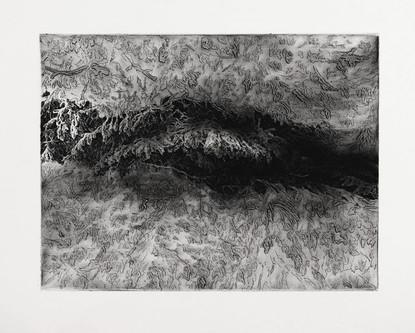 VNITŘNÍ SVĚT / lept 40x30cm / 2015       Inner world / intaglio print 40x30cm / 2015
