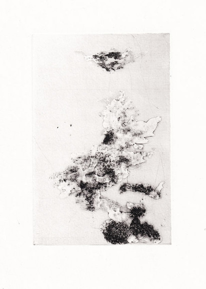 Země, moře / hlubotisk 10x15cm / 2015      Land and sea / intaglio print 10x15cm / 2015