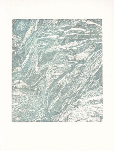 SKÁLY III. / čárový lept 18x15cm / 2019     Rocks III. / etching 18x15cm / 2019