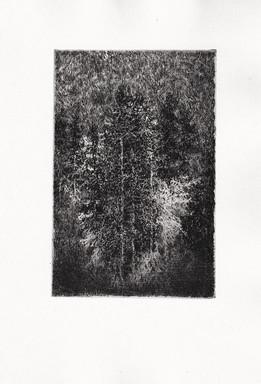 SEN / lept 10x15cm / 2018       Dream / etching 10x15cm / 2018