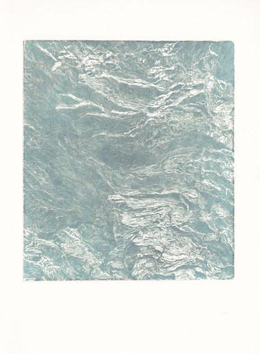 SKÁLY I. / čárový lept 18x15cm / 2019     Rocks I. / etching 18x15cm / 2019