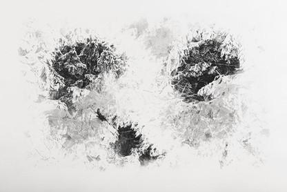 BRÁNA / čárový lept 85x55cm / 2014     The Gate / etching 85x55cm / 2014