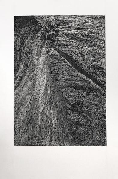 PROSTOR / čárový lept 46x65cm / 2020  grafika získala cenu za tisk z hloubky na výstavě Grafika roku 2020 / v Císařské konírně Pražského hradu       Space / etching 46x65cm / 2020  Graphics of the Year 2020 - prize for intaglio print / Imperial Stables in Prague Castle