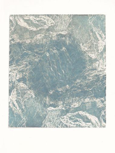 SKÁLY II. / čárový lept 18x15cm / 2019     Rocks II. / etching 18x15cm / 2019