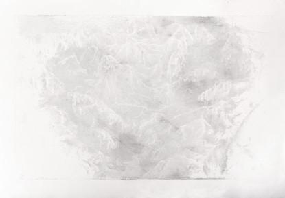 PROBOUZENÍ PRÁZDNOTY / lept 85x55cm / 2014    Awakening emptiness / intaglio print 85x55cm / 2014
