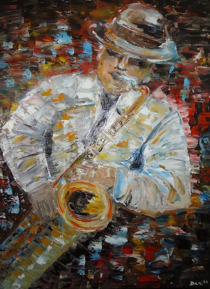 Abstract musician