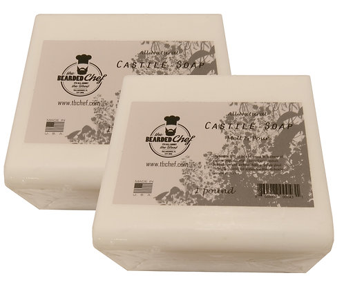 Castile Soap - Melt and Pour - 2 lb. - Made in U.S.A. -Olive Oil Based