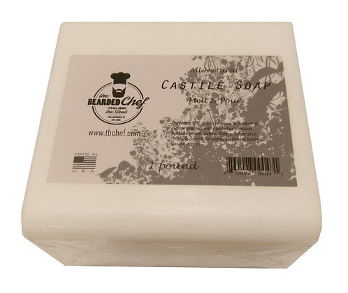 Castile Soap - Melt and Pour - 1 lb. - Made in U.S.A. -Olive Oil Based