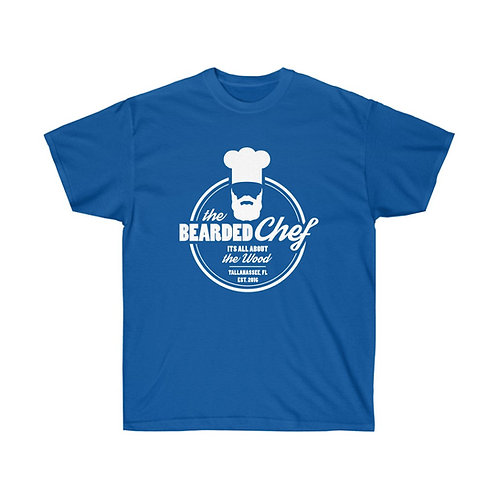 The Bearded Chef Logo in White T-Shirt
