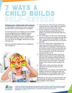 7 Ways a Child Builds Self-Esteem