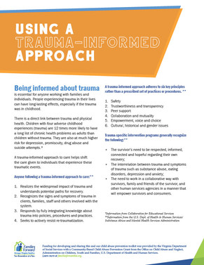Using a Trauma-Informed approach