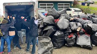 Radical Leftist Group Dumps Over 200 Bags of Trash at Tacoma City Manager's Home