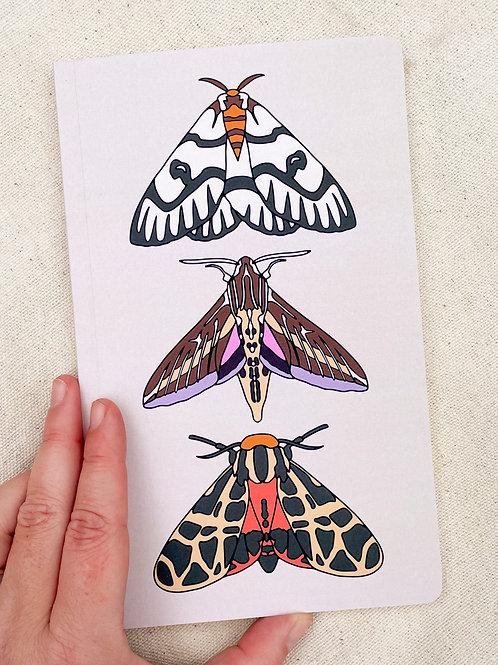 "Three Moths 5""x8.5"" Journal"
