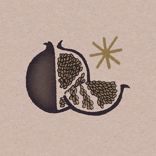 Pomegranate 5 x 5 Mini Print