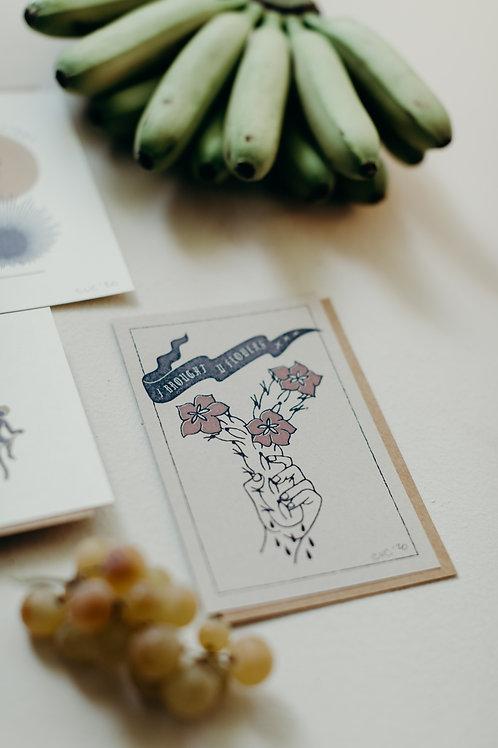 Brought Flowers 4 x 6 Mini Print
