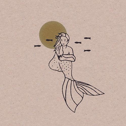 Mermaid 5 x 5 Mini Print