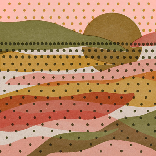 Rainbow Landscape 12x12 Print