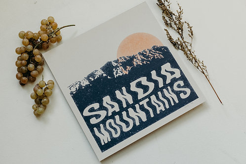 Sandia Mountains on Kraft Paper