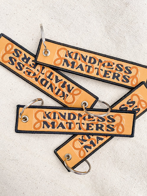 Kindness Matters Patch Keychain