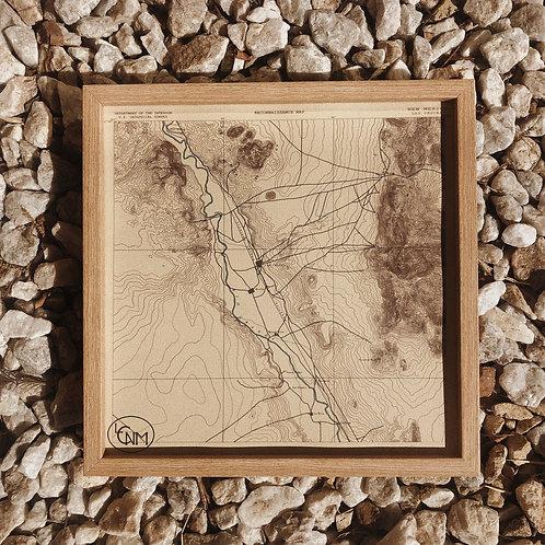 Las Cruces Doña Ana Topo Map 12 x 12 Print