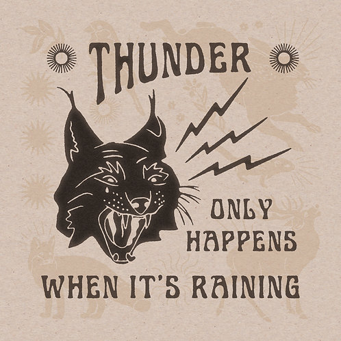 Thunder Cat 12 x 12 Print
