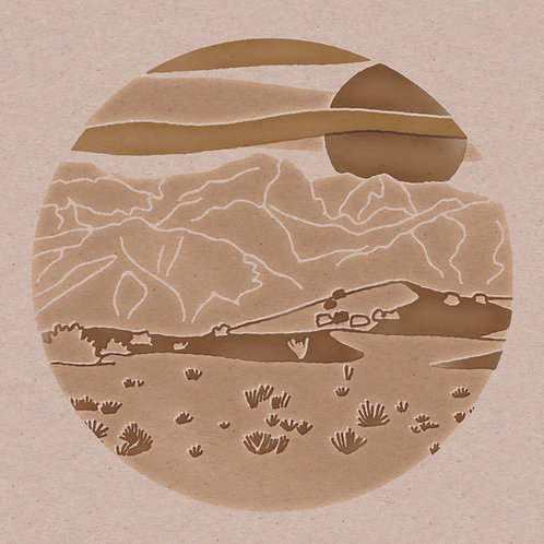 Gold Circle Desert 12 x 12