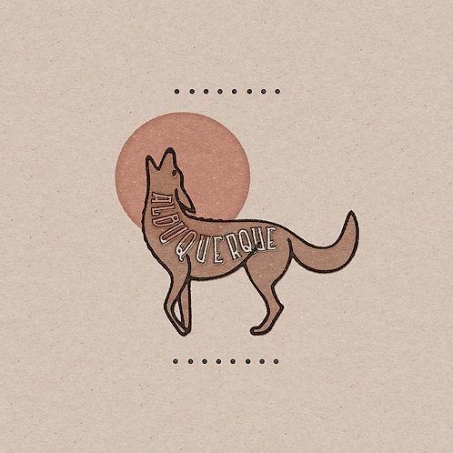 Albuquerque Lobo on Kraft Paper