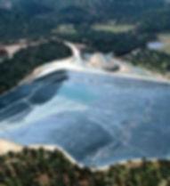 impermeabilización de minas, vasos de mina, sellados, impermeabilización, clausura, diques de contensión, mudos, hdpe polietileno, geocompuesto