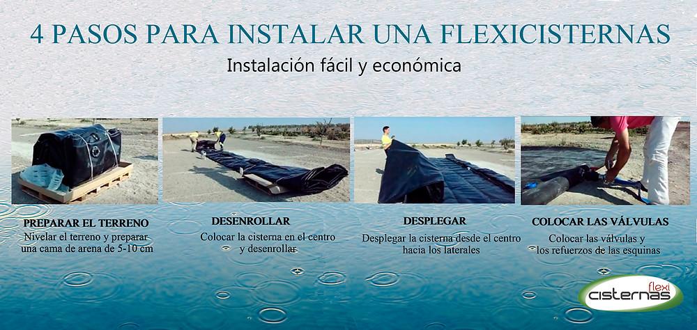 Pasos para instalar una cisterna flexible FlexiCisterna para el almacenamiento de agua